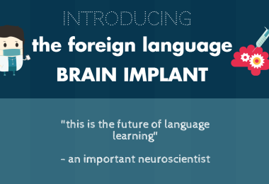 BREAKING NEWS: The Foreign Language Brain Implant