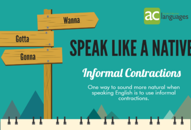 Speak English like a native: informal contractions