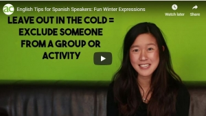 Mini-clase de inglés. Expresiones de invierno