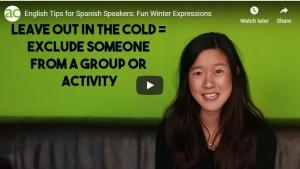 Expresiones de invierno en inglés