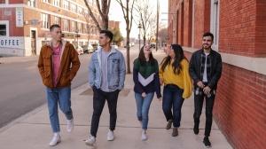 Estudiants d'AC aprenent anglès al carrer