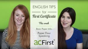 Video examen speaking b2 first