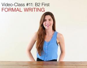 B2 First Video class (11) Writing